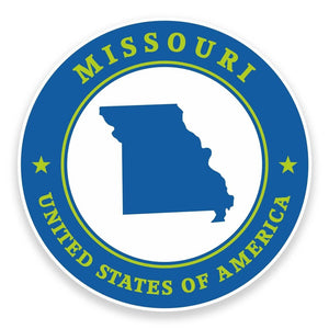 2 x Missouri USA Vinyl Sticker #9355
