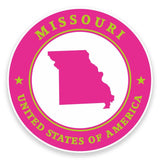 2 x Missouri USA Vinyl Sticker #9356
