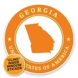 2 x Georgia USA WINDOW CLING STICKER Car Van Campervan Glass #9358