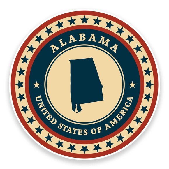 2 x Alabama USA Vinyl Sticker #9360