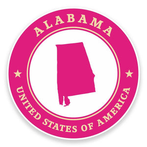 2 x Alabama USA Vinyl Sticker #9362