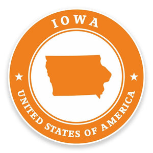 2 x Iowa USA Vinyl Sticker #9368
