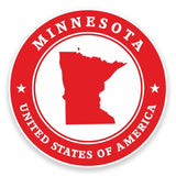 2 x Minnesota USA Vinyl Sticker #9383