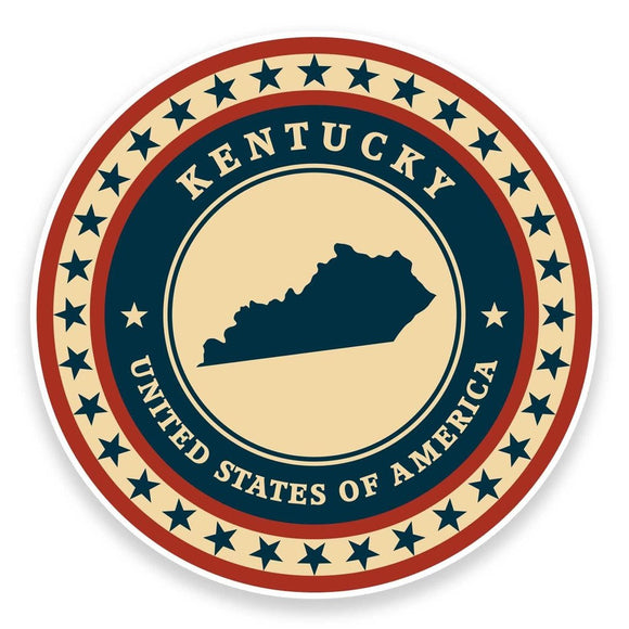 2 x Kentucky USA Vinyl Sticker #9387