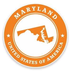 2 x Maryland USA Vinyl Sticker #9392