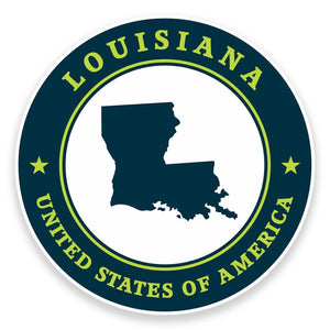 2 x Louisiana USA Vinyl Sticker #9397