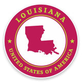 2 x Louisiana USA Vinyl Sticker #9398