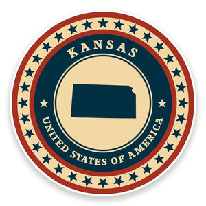 2 x Kansas USA Vinyl Sticker #9399