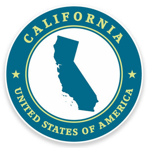 2 x California USA Vinyl Sticker #9412