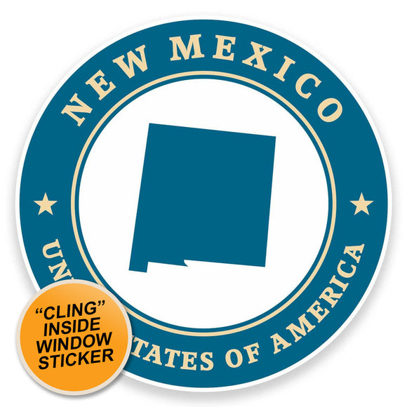 2 x New Mexico USA WINDOW CLING STICKER Car Van Campervan Glass #9416