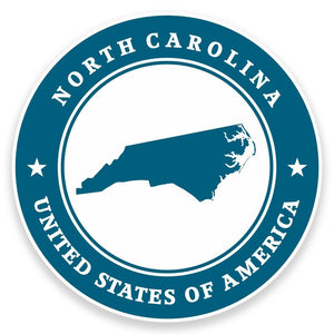 2 x North Carolina USA Vinyl Sticker #9428