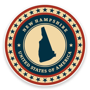 2 x New Hampshire USA Vinyl Sticker #9429