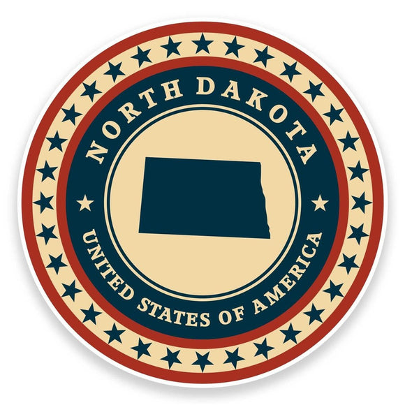 2 x North Dakota USA Vinyl Sticker #9432