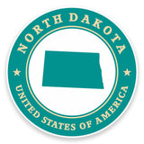 2 x North Dakota USA Vinyl Sticker #9433