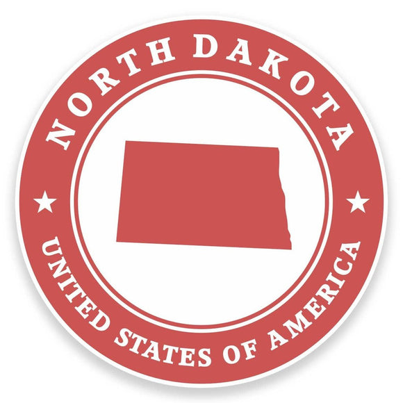 2 x North Dakota USA Vinyl Sticker #9434