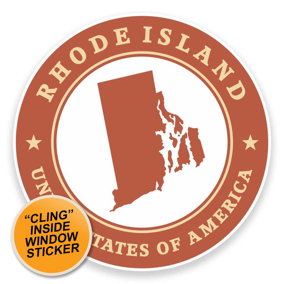 2 x Rhode Island USA WINDOW CLING STICKER Car Van Campervan Glass #9446