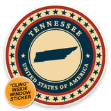 2 x Tennessee USA WINDOW CLING STICKER Car Van Campervan Glass #9453