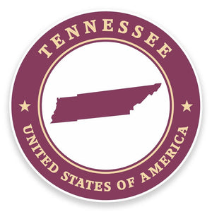2 x Tennessee USA Vinyl Sticker #9454
