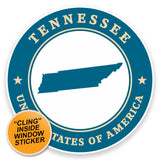 2 x Tennessee USA WINDOW CLING STICKER Car Van Campervan Glass #9455