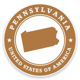 2 x Pennsylvania USA Vinyl Sticker #9457