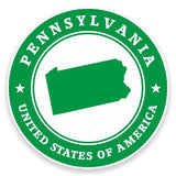 2 x Pennsylvania USA Vinyl Sticker #9458