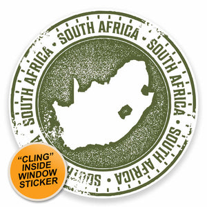 2 x South Africa WINDOW CLING STICKER Car Van Campervan Glass #9468