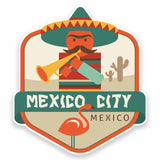 2 x Mexico City Vinyl Sticker #9489