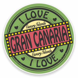 2 x Gran Canaria Canary Islands Vinyl Sticker #9493