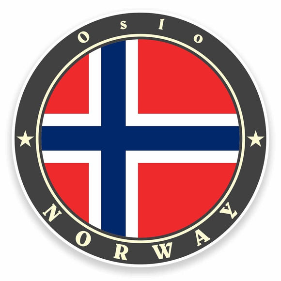 2 x Oslo Norway Vinyl Sticker #9500