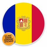2 x Andorra Flag WINDOW CLING STICKER Car Van Campervan Glass #9507