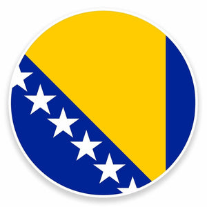 2 x Bosnia & Herzegovina Flag Vinyl Sticker #9509