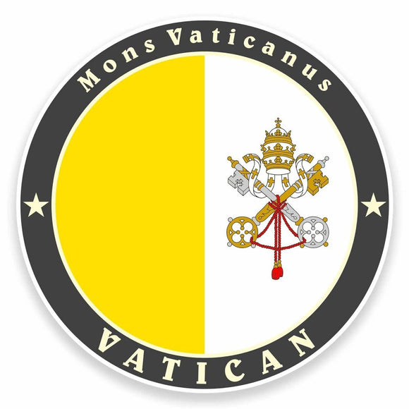 2 x The Vatican Rome Italy Flag Vinyl Sticker #9510