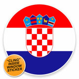 2 x Croatia WINDOW CLING STICKER Car Van Campervan Glass #9527