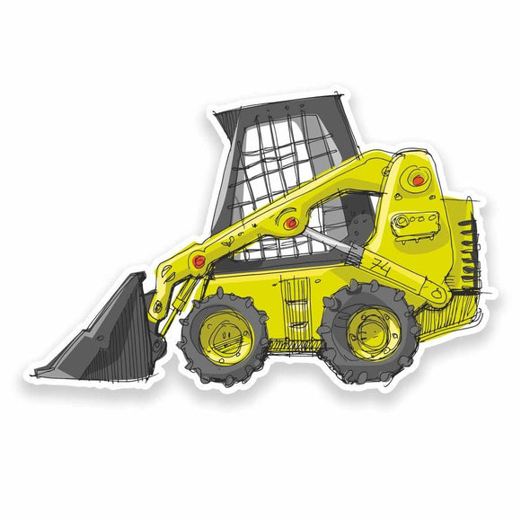 2 x Construction Digger Vinyl Sticker #9537