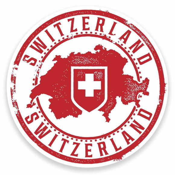 2 x Switzerland Vinyl Sticker #9546