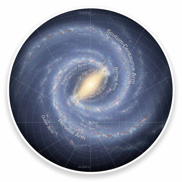 2 x Milky Way Solar System Space Galaxy Vinyl Sticker #9562