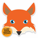 2 x Fox WINDOW CLING STICKER Car Van Campervan Glass #9579