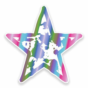 2 x Funky Star Vinyl Sticker #9591
