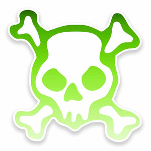 2 x Cool Skull Vinyl Sticker #9598