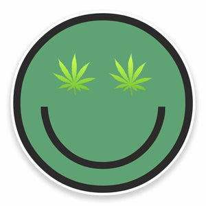 2 x Cannabis Vinyl Sticker #9600