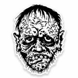 2 x Zombie Head Vinyl Sticker #9611
