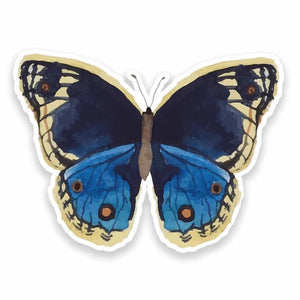 2 x Painted Butterfly Vinyl Sticker #9627