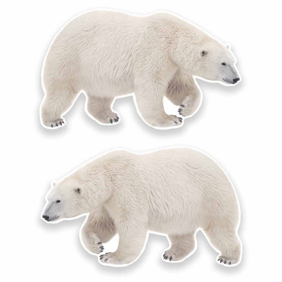 2 x Polar Bear Vinyl Sticker #9646