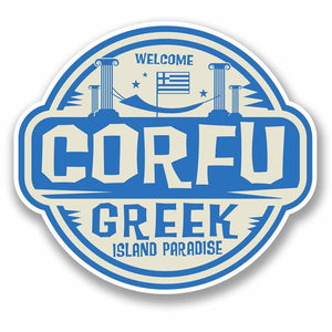 2 x Corfu Greece Vinyl Sticker #9670