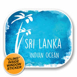 2 x Sri Lanka WINDOW CLING STICKER Car Van Campervan Glass #9679