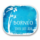2 x Borneo South East Asia Vinyl Sticker #9681