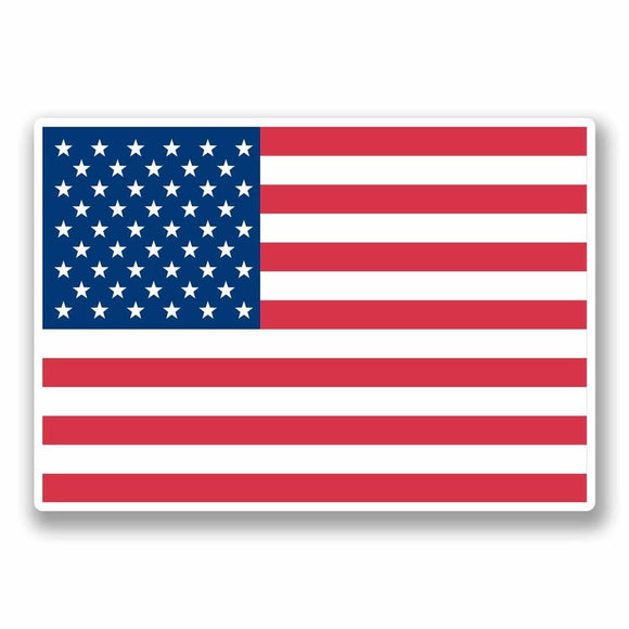 2 x United States of America USA Vinyl Sticker #9685