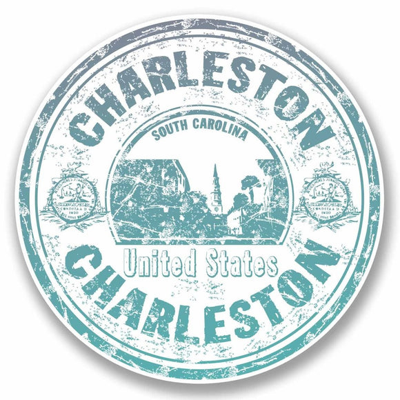 2 x Charleston South Carolina USA Vinyl Sticker #9710