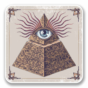 2 x All Seeing Eye of Providence Vinyl Sticker #9726