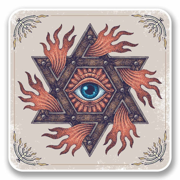 2 x All Seeing Eye of Providence Vinyl Sticker #9727